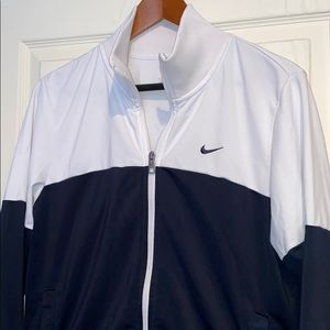 Nike White & Navy Athletic | Sport | Gym | Hoodie